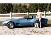 First Corvette - My first Vette was this 1969 small block bought in 1982. Great car but I wanted a Big Block! My son Neil is now in his mid 30's!