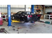 C6 Powertrain removal - A lift makes the process much easier