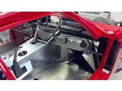 Glove box - C6 glovebox support modified to fit